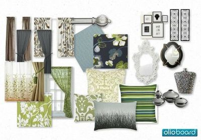 Blue Green Silver Accents For A Living Room