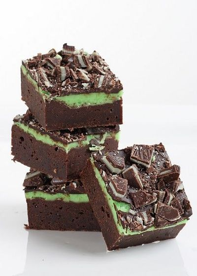 fudge mint brownies ... looks divine!