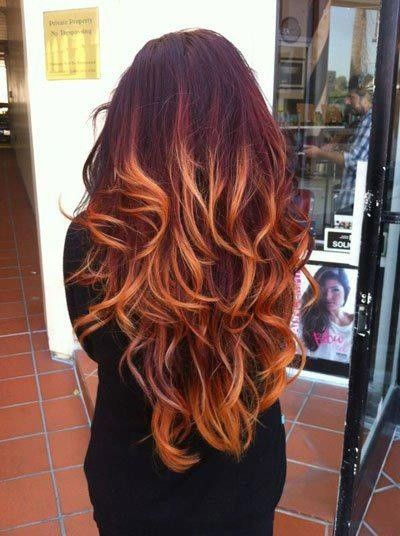 red ombre hair color / hair tips - Juxtapost