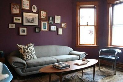 Purple And Gray Living Room For The Home Juxtapost