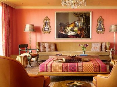 living room in warm colors / For the home - Juxtapost