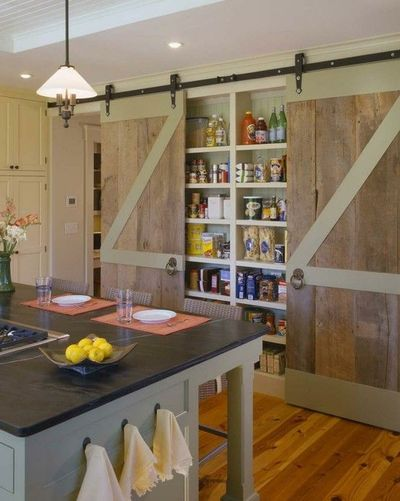 How to install pocket door pull - Pantry Sliding Barn Doors Awesome For My Kitchen