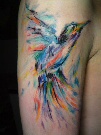 Beautiful watercolor tattoo. / birds - Juxtapost