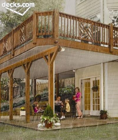 2nd story deck for my backyard juxtapost - Two story house plans with covered patios ...