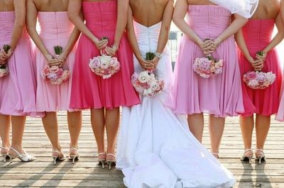 Shades Of Pink For Bridesmaid Dresses