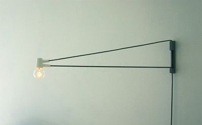 wall mounted pivoting reading lamp for the bedroom
