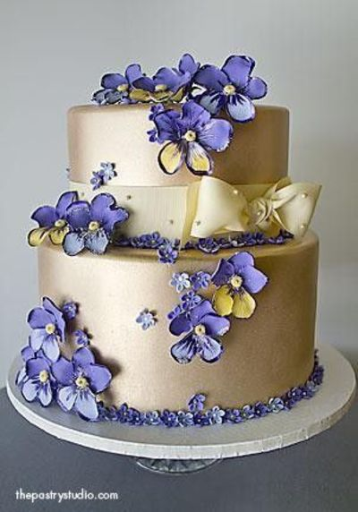 Pansy Wedding Cakes Juxtapost