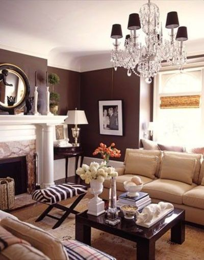 Brown Black And Cream For The Living Room For The Home Juxtapost - Brown and cream living room