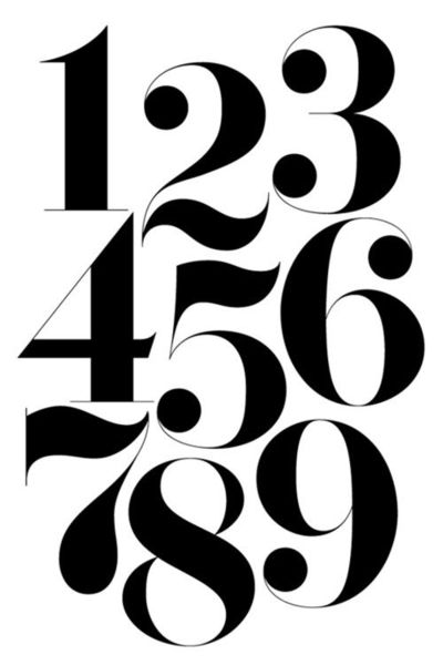 numbers typography graphic designs juxtapost