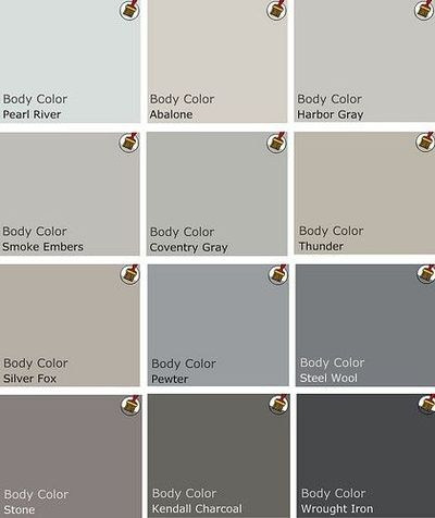 Palette of grey benjamin moore paints walls stash for Grey white paint colors