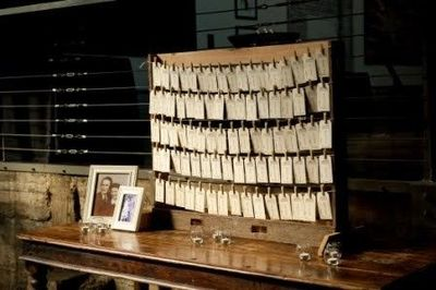 table assignments hanging on tags... / wedding ideas - Juxtapost