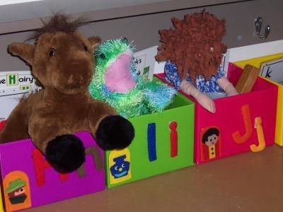 Great alphabet boxes idea for young kids