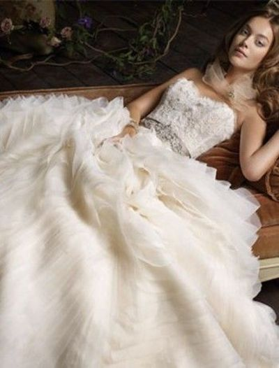Lazaro sweetheart a line gown in beaded embroidery gowns for Lazaro a line wedding dress