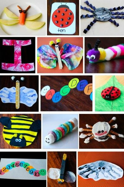 Insect craft ideas preschool items juxtapost for Bugs arts and crafts