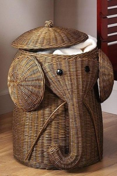 Cute Laundry Basket...would Be Perfect For A Zoo Themed