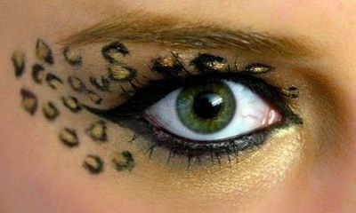leopard eye makeup good for dress up or halloween d make up tips juxtapost. Black Bedroom Furniture Sets. Home Design Ideas