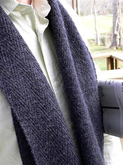 Knitted Stockinette Stitch Scarf Pattern : HENRY Knit scarf, Knitty: A subtle slip-stitch herringbone p... / knits and k...