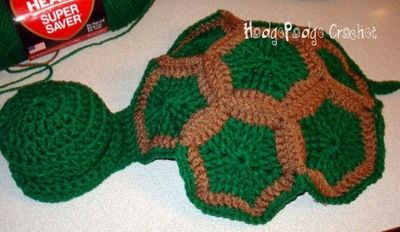 Free Crochet Pattern Turtle Photo Prop : infant turtle shell free pattern - she also has patterns ...