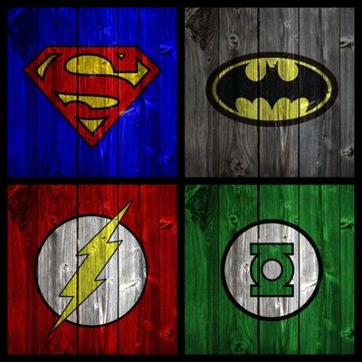 Vintage Superheros #batman #superman #flash #greenlantern