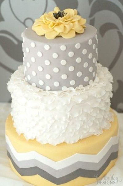 gray and yellow cake wedding cakes juxtapost
