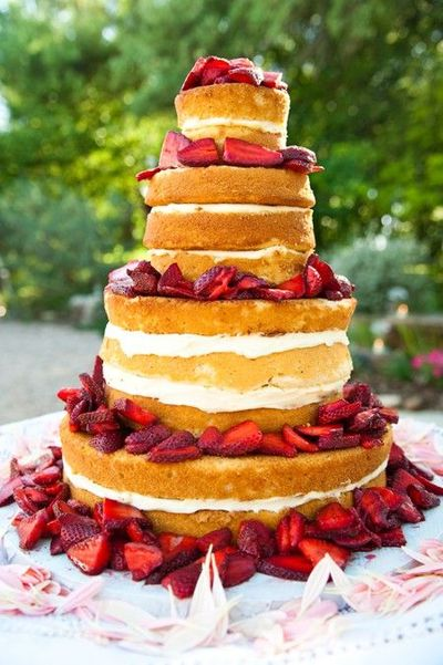 Strawberry Flavored Wedding Cake