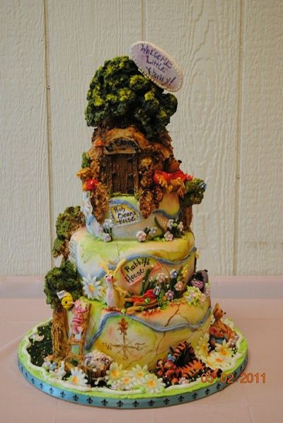 100 Acre Wood Cake Winnie The Pooh Christopher Robbin