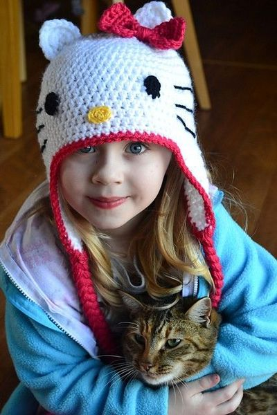 Free Hello Kitty Hat Pattern / crochet ideas and tips ...