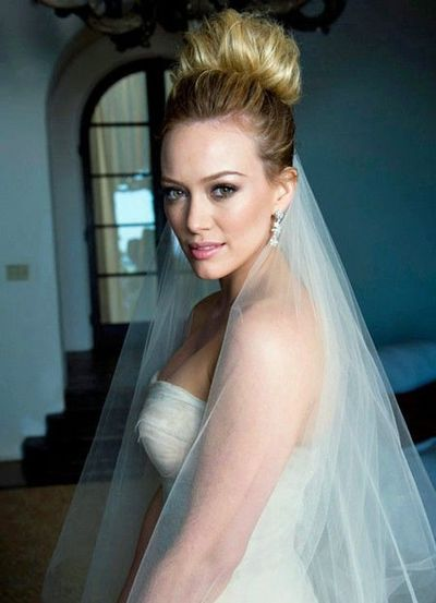 hilary duff\'s wedding hair and makeup / gowns - Juxtapost