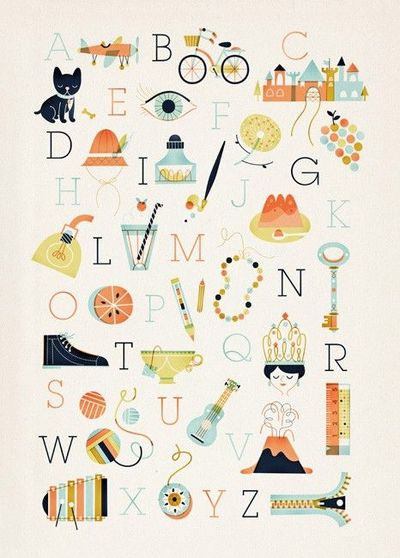 ABC is easy as 123 print by Sol Linero (50 x 70 cm, �'�59.00)