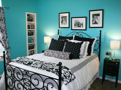 Black And White Against Tiffany Blue
