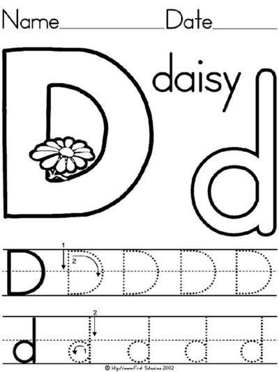 Letter D Daisy lesson plan printable activities: poster, coloring ...
