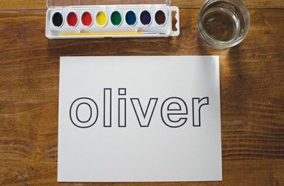 Watercolor name painting