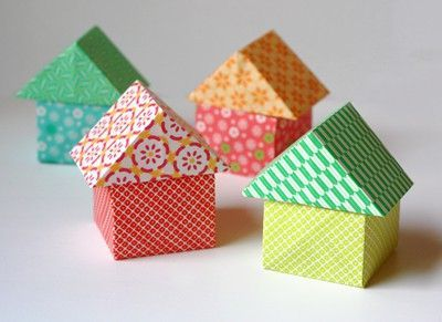 note to self: make a little origami town �€� how about orange