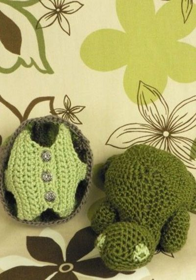 free turtle with removable shell amigurumi pattern ...