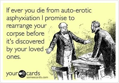 Auto erotic axfixiation