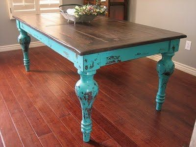 love antiqued furniture.. and turquoise - Love Antiqued Furniture.. And Turquoise / For The Home - Juxtapost