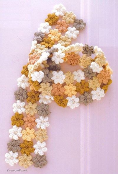 Free Crochet Pattern For Mollie Flowers : crochet scarf- pattern for the little