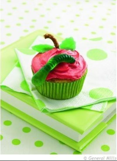 Cupcake Decorating Ideas Simple : apple cupcakes Cute & Easy Cupcake Decorating Ideas For ...