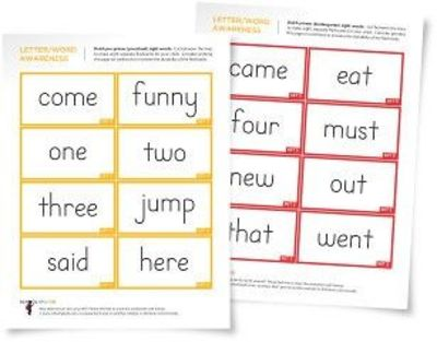 flashcards items word  printable  sight Word Sight Preschool Juxtapost  Flashcards /