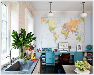 What A Fun Kitchen Office Combo