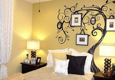 Tree Wall Decal With A Twist Hang Picture Frames On The For - How to put up a tree wall decal