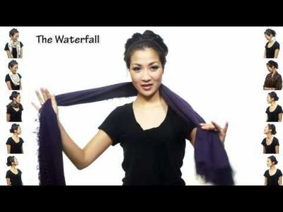 25 ways to wear a scarf. Love the editing in this video!