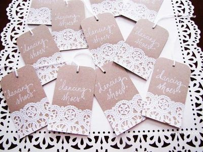 Doily Wedding Name Place Table Or Escort Cards