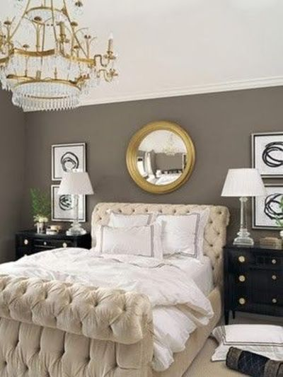 Grey black white gold for the bedroom juxtapost - Grey and gold bedroom ...