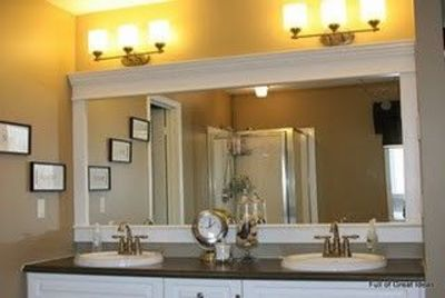 Bathroom Mirror Makeover bathroom mirror makeover / bath ideas - juxtapost