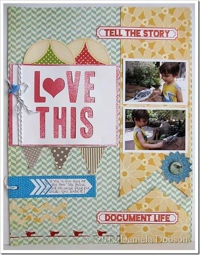 "Daniela's layout ""tells the story"" and it is really nice. I like how she used the February Studio AE (Ali Edwards) stamp set. I also liked Daniela's description about how she used her die cutting machine to make the title. And she ..."
