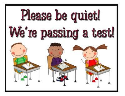 Please be quiet - we re passing a test  I love this sign  amp  that it    Quiet Please Testing Sign