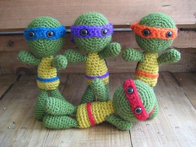 Free Crochet Teenage Mutant Ninja Turtle Pattern : Teenage Mutant Ninja Turtles-Crochet by atsuko - Free ...