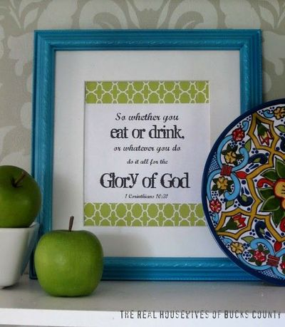 Free kitchen printable, 1 Corinthians 10:31 / inspiring quotes and ...