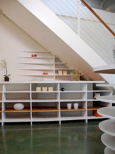 Under Stair Shelves and Storage Space Ideas: